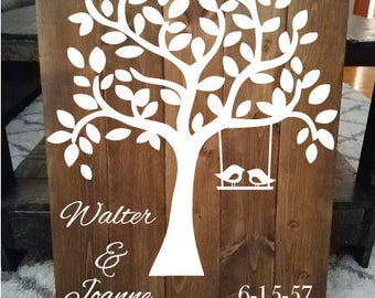 Anniversary Tree Sign