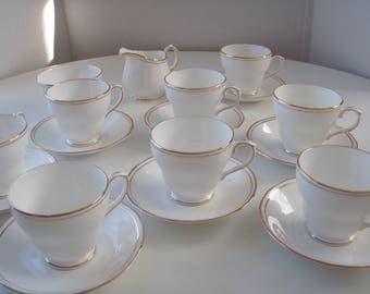 Vintage English Bone China Tea Set for 8 Duchess Pattern Ascot