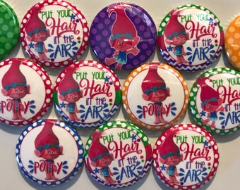 "10pc Troll 1"" Flatback buttons, crafts"