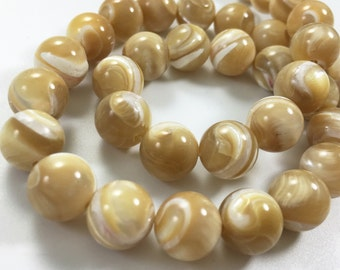 one full strand 8mm mother of pearl round beads ,mother of peal jewelry