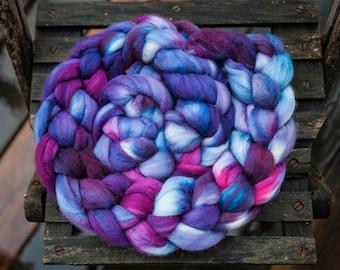 Merino Silk Hand Dyed Combed Top Wool Spinning Fiber Roving