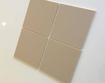 "Latte Beige Mat Acrylic Square Crafting Mosaic & Wall Tiles, Sizes: 1cm to 20cm - 1"" to 7.9"""
