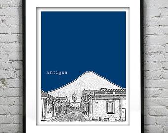 Custom print - Antigua poster Art Skyline Print Version 1