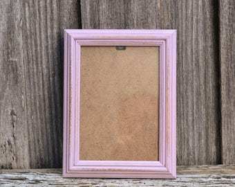 Shabby Chic Pastel Pink Distressed Photo Frame 5x7 inches