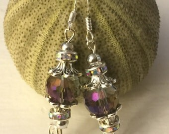 Tornasol crystal Wedding-earrings-glass