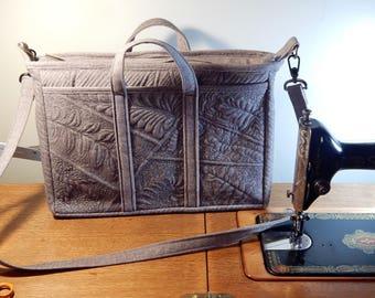 Quilted Brief Case/Messenger Bag