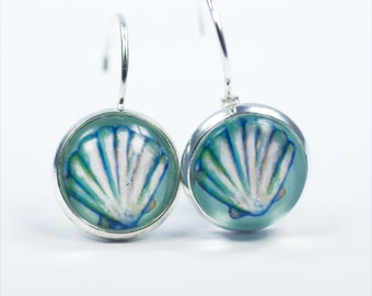 "Earrings ""Atlantis Sea Shell"" 12mm"