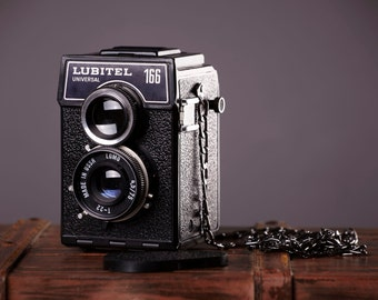 Vintage TLR Film Camera LUBITEL 166 Universal. 120mm film Camera.