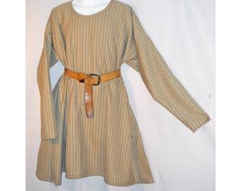 Sz 2X Medieval SCA, LARP Striped Wool Norman, Saxon, or Viking Tunic