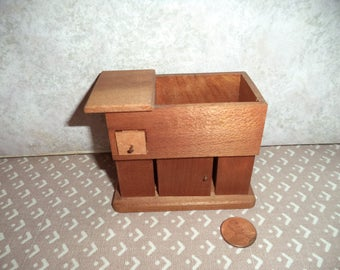 1:12 scale Dollhouse Miniature Vintage Dry Sink (walnut color)