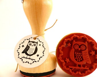 Stamp around OWL OWL