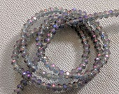 MONTANA LUSTER IRIS: 1x2mm Faceted Glass Rondelle Strand (195 beads per strand)