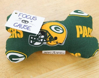 Green Bay Packers Dog Toy, Dog Squeaky Toy, Dog Toy, Dog Bone, Squeaky Toy, Sports, NFL, Football
