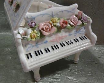 Porcelain Piano Music Box