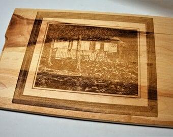 Photo Engraved Cutting Board Cutting Board, Engraved Cutting Board, Custom Cutting Board, Wood Cutting Board, Monogram Cutting Board 10x16