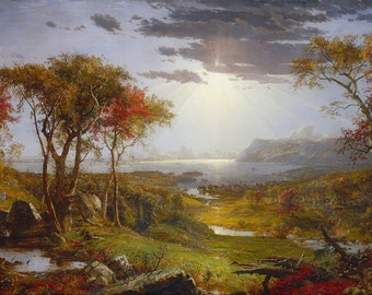 "Jasper Francis Cropsey : ""Autumn - On the Hudson River"" (1860) - Giclee Fine Art Print"
