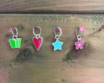 Set of Four Stitch Markers for Knitting