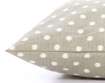 Gray Ikat Dots Dog Bed Cover, Pet Bed Cover, Custom Dog Bed Duvet Cover, Modern Pillow-Style Dog Bed Cover for Small to Large Dog Beds