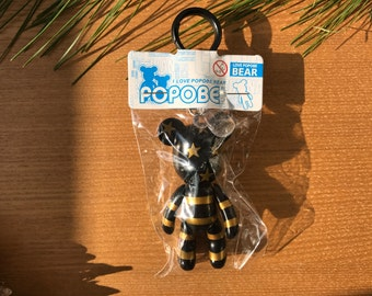 Popobe bear American flag Stars and Stripes in Gold and Black