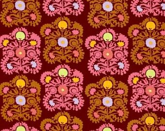 SALE  Amy Butler Dreamweaver  / PWAB156.plumx /Embroidery in Plum   /Fabric Canada/ half yard