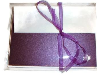 Purple notecards 5 Purple maple leaf notecards blank notecards leaf cards purple cards blank purple cards note set notecards blanks