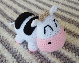 Crocheted Harvest Moon Cow Plush