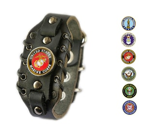 US Army Military bracelet - Marines, Coast Guard, National Guard, Air Force, Navy