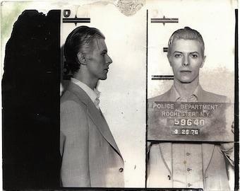 David Bowie, Mugshot, 1976, NYC Arrest