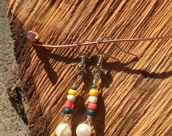 Bead & Pearl Dangle Earrings