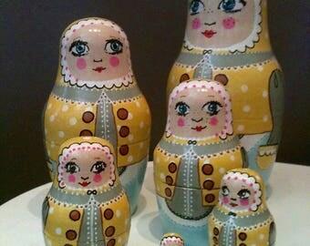 Matryoshka,Russian nested doll,handmade,unique piece