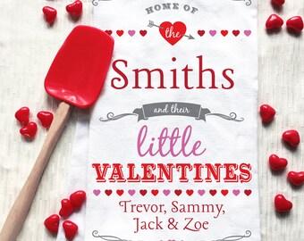 Valentine Decor, Valentines Day Decor, Valentines Day Tea Towel, Valentines Day Kitchen Decor, Custom Valentines Day Gift, Custom Valentine
