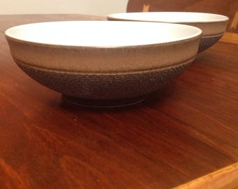 Two Denby Cotswold Cereal / soup bowls from the 1970s/80s: Made in England. Good condition.