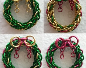 Festive Chainmaille Wreaths!