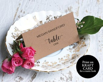 Seating Card, Seating Card Template, Place Card, Rustic Seating Card, Wedding Place Card, Place Card Template, Instant Download, #MM01-2