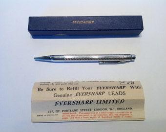 1920s Eversharp Mechanical Pencil. Art Deco Propelling Pencil. Silver Plated Pencil. Edwardian Pocket Pencil. Ladies Dance Pencil.