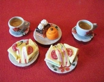 Barbie  doll  food lunch snack tea coffee for two