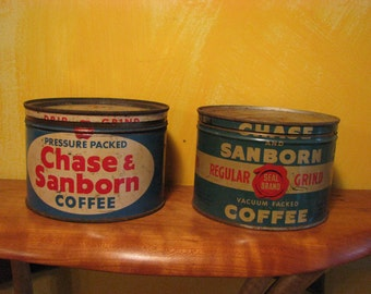 3 Vintage Coffee Cans (c)