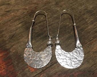 Silver Tribal Design Earrings