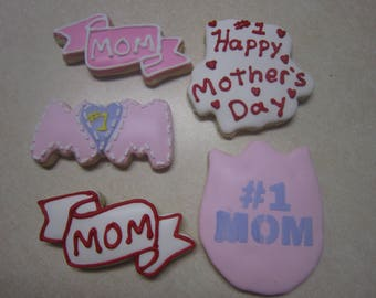 1 Dozen Mother's Day Hand Decorated Cookies