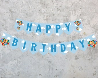 Disney Up House Happy Birthday Banner