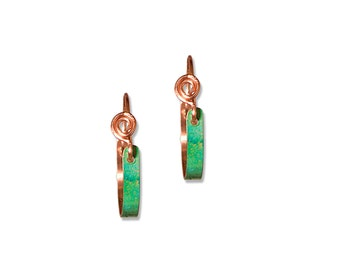 NEW ITEM! Small Copper Hoop Earrings