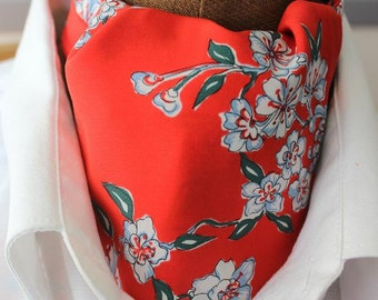 Ascot,red with nice flower design
