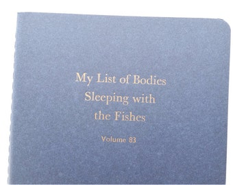 Fishes  - Funny Letterpress Notebooks, Jotters, Mini Journals, Cahiers, Carnets