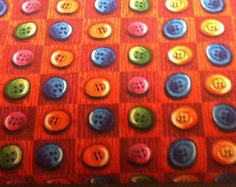 Buttons fabric by the yard