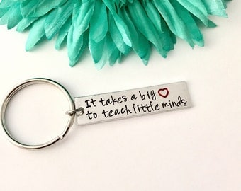 Teacher gift -it takes a big heart to teach little minds - great for teachers, teacher aids, child care providers - great gift