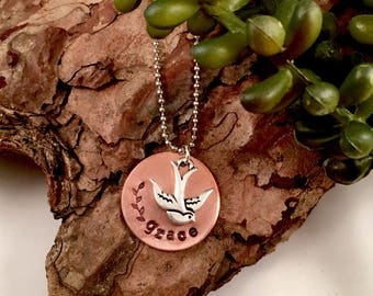 Grace copper circle necklace