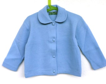 Wool cardigan children (3 years) Vintage 60s made in italy