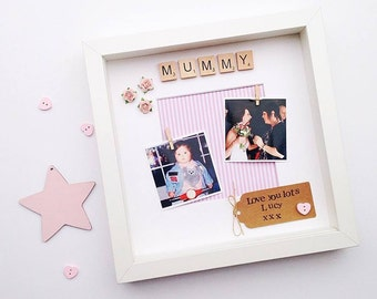 Mummy Photo Frame- Personalised Scrabble Frame- For Mum- Mother's Day Gift- Customised Name- Sister- Aunty- Auntie- Nana- From the Children