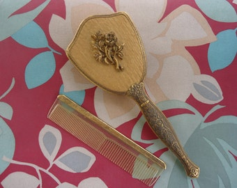 Ormolu Hairbrush and Comb Set