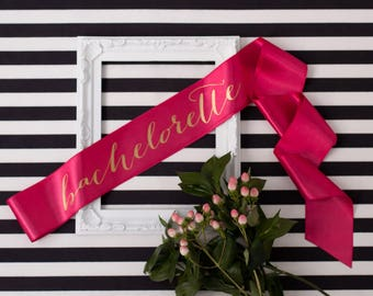 Bachelorette Sash Bride To Be Gift Bridesmaid